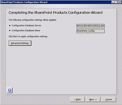 En la pantalla Completing the SharePoint Products Configuration Wizard, tenemos la opción de configurar la Consola de Administración Central (Central Administration) en este servidor. No nos interesa hacerlo (al menos, ahora), por lo tanto, click Next para continuar.