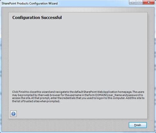Googleamos un poco por los interneses. Resulta que hay que instalar el Windows Identity Foundation. Los descargamos y lo instalamos. Lanzamos manualmente de nuevo el Asistente de configuración de SharePoint (psconfig.exe), y en esta ocasión, finaliza satisfactoriamente, como Dios manda