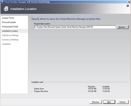 En la pantalla Installation Location, seleccionar la ruta en la que se desea instalar la aplicación.