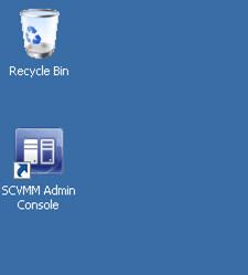 Virtual Machine Manager Administrator Console (VMM Console) Setup - Acceso Directo del Escritorio