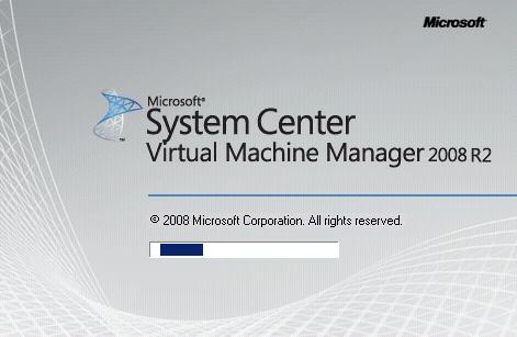 Virtual Machine Manager Administrator Console (VMM Console) Setup - Pantalla de Splash de la VMM Administrator Console