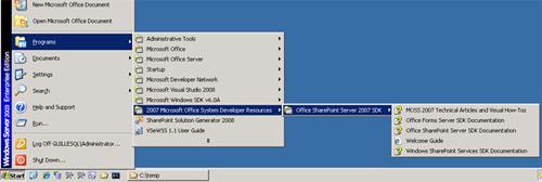 Con esto, ya estará montado nuestro entorno de desarrollo para SharePoint 2007.