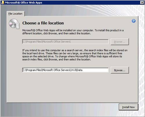 Especificamos la ruta de instalación. Click Install Now.
