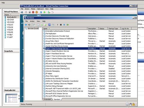 Comprobar que los Integration Services de Hyper-V están instalados en la máquina virtual.