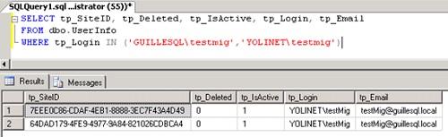 Si volvemos a consultar la tabla UserInfo, ya no aparece la información del usuario original, y en su lugar, aparece la información del usuario correspondiente en el nuevo dominio. ¿Funcionará? Vamos a verlo.