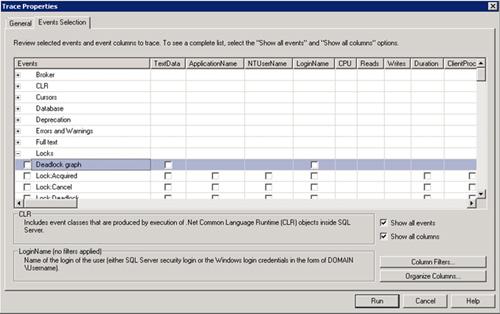 Desde SQL Server 2005 se ha introducido un nuevo evento en las trazas de SQL Profiler, denominado Deadlock graph (dentro de la categoría Locks).