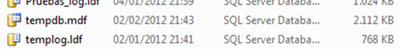Era de temer. El tamaño del fichero de datos de TEMPDB ahora es mayor que al principio del artículo.