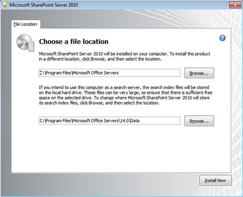 Aunque no esté recomendado, es posible realizar la instalación de SharePoint Server 2010 (MOSS 2010) sobre un equipo que actúe como Controlador de Dominio (Domain Controller) de Directorio Activo. Sin embargo, en este escenario nos encontraremos que durante la instalación de SharePoint 2010, no podremos elegir el tipo de instalación (Standalone o Server Farm), ni se mostrará la pestaña Server Type (dónde igualmente se elige entre una instalación Completa o StandAlone). No pasa nada. Este es el funcionamiento correcto por diseño.