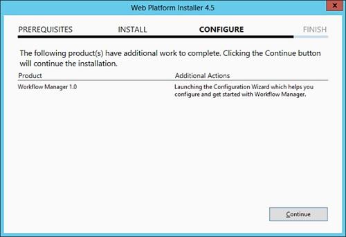 Lo primero que deberemos realizar es descargar e instalar el Workflow Manager, algo que será tan sencillo como seguir un simple Wizard