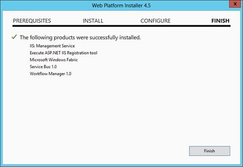 No tardaremos mucho en finalizar la instalación del Workflow Manager.