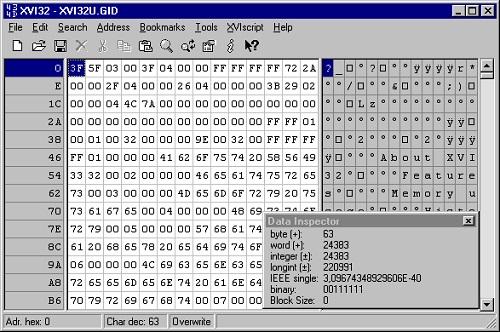 El editor hexadecimal XVI32 es una herramienta muy útil y sencilla de utilizar